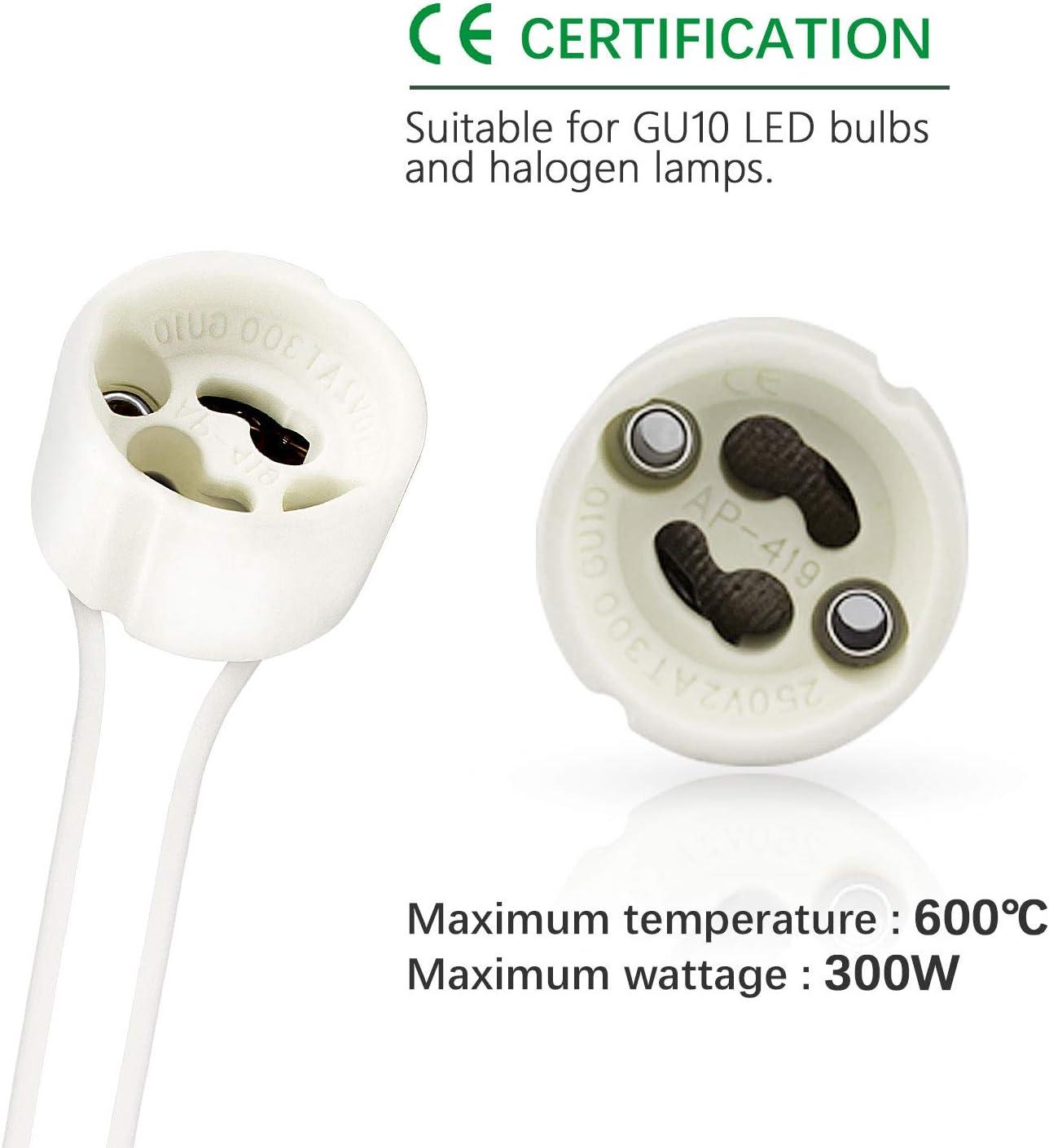 Support DEL GU10 Halogène Céramique Ampoule Connecteur Lampe Pack de 10 socekt