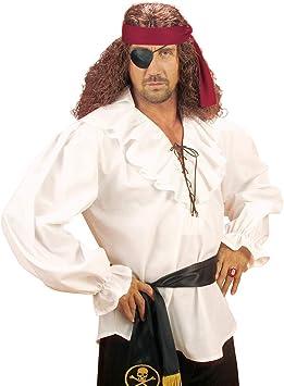 NET TOYS Autentica Camisa de Pirata para Hombre - Blanco XL (ES 54) - Vestimenta Medieval Multiuso Camisa