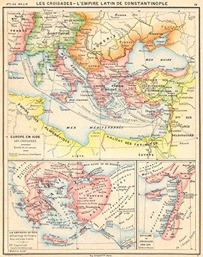 Europe Croisades Crusades Byzantine Empire Latin 1096 1204