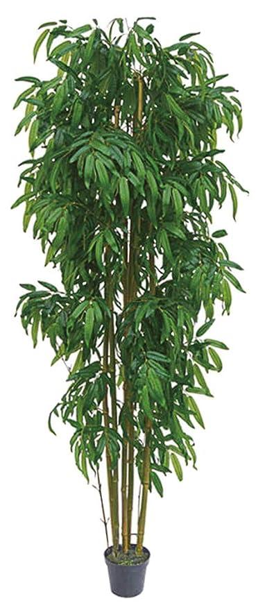 Planta Artificial De Bambú Grande De Decovego Con Madera Real De 210 Cm