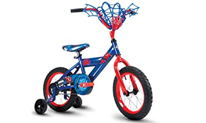 Amazon Com Huffy Spider Man Bike 14 Blue Red Sports Outdoors