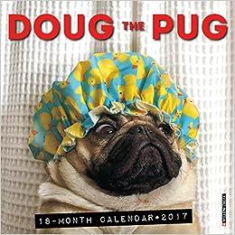Amazon 2017 Doug The Pug Mini Wall Calendar 9781682343210 Willow Creek Press Books