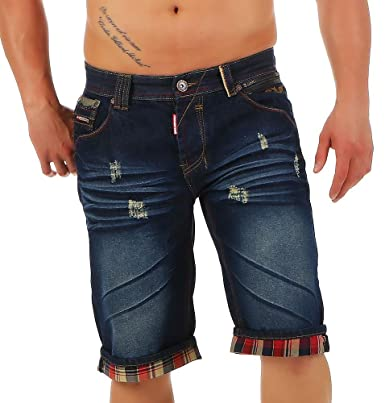 a45aa27598fd Geographical Norway Herren Jeans Shorts Plasma Destroyed Knielang ...