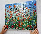 MADE4U [20] [Thicker (1)] [Wood Framed] Paint By Numbers Kit Canvas Mounted on Wood Frame with Brushes and Paints for [Home Decoration] Adults Children Seniors Junior DIY Bigginner Lever Arcylics Pain