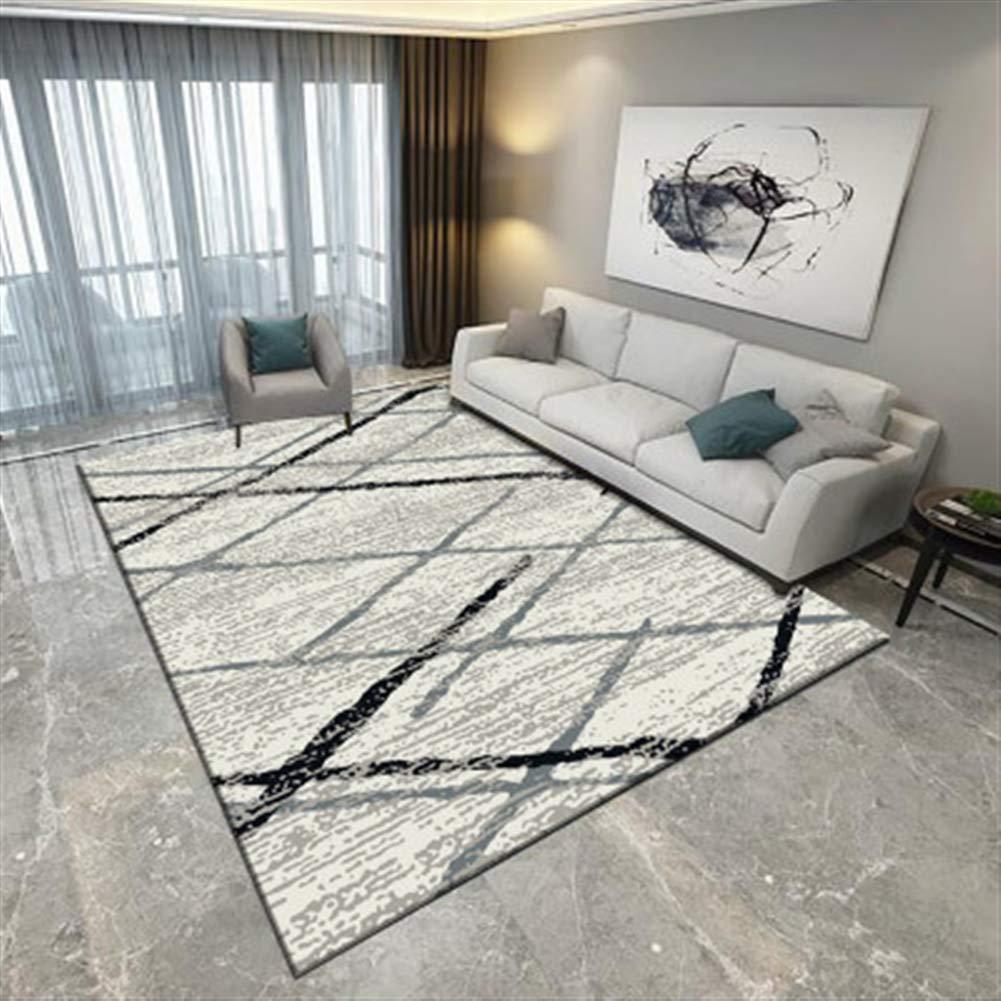 Ommda Teppiche Wohnzimmer Modern Geometrisches Digitales Drucken Kurzflor Teppich Antirutsch Abwaschbar Farbeful 140x200cm