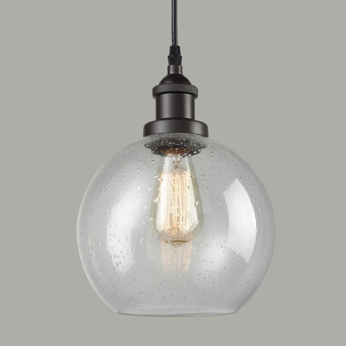 Dazhuan Industrial Vintage Bubble Glass Pendant Light Metal ORB Hanging Lighting