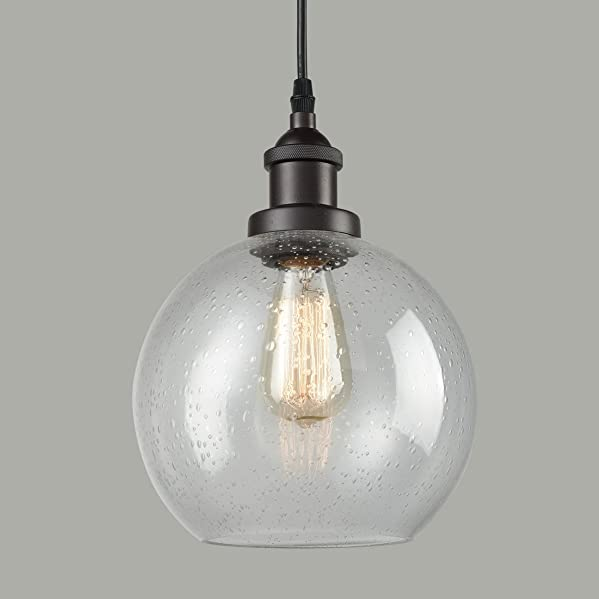 Dazhuan Industrial Vintage Bubble Glass Pendant Light Metal ORB Hanging Lighting