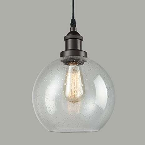 best loved 0c387 e32c7 Dazhuan Industrial Vintage Bubble Glass Pendant Light Ceiling Fixture  Hanging Lighting
