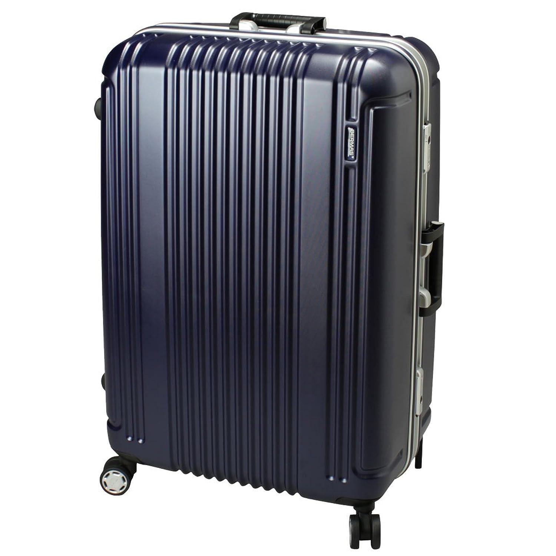 スーツケース Mサイズ 83L フレームタイプ 4輪 TSA キャリーバッグ B01CZBK2RMNo.60266 ネイビー(Navy)