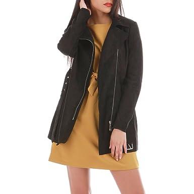 600a21670d38 La Modeuse - Trench Femme en suédine  Amazon.fr  Vêtements et ...