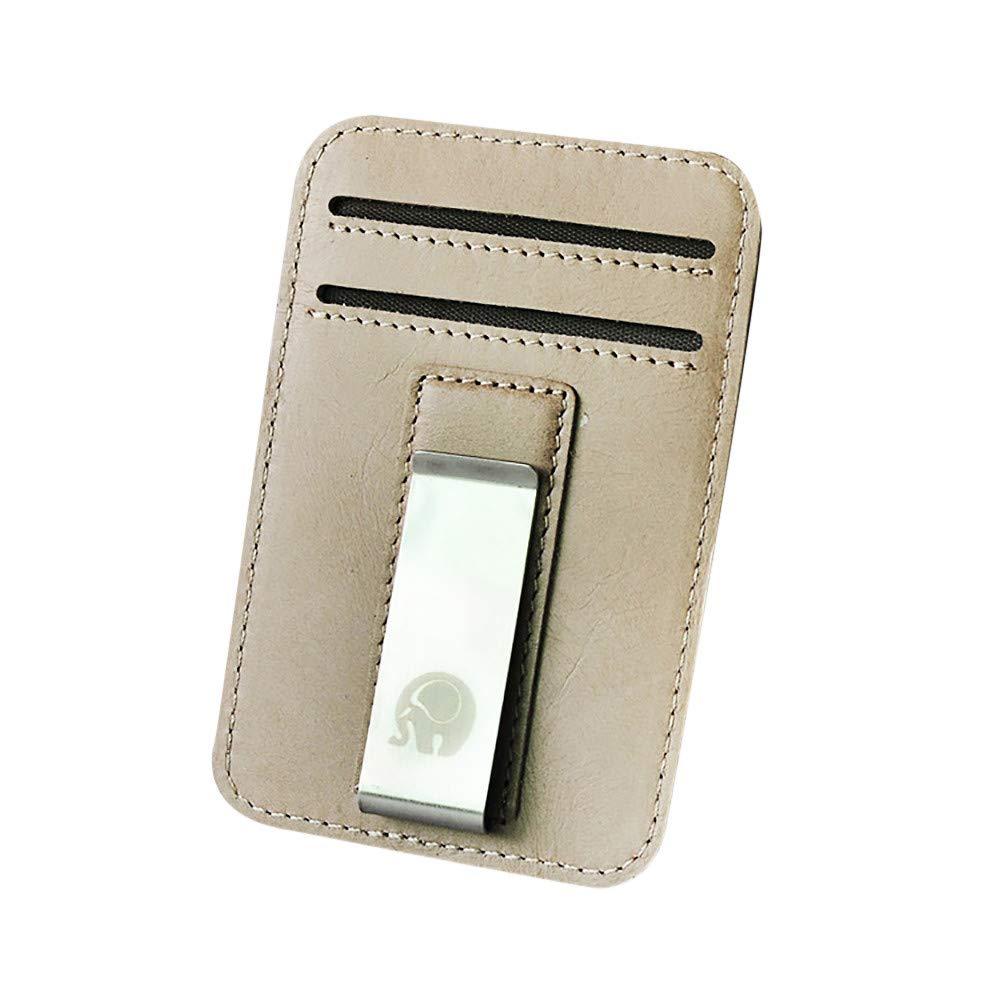 HoSayLike Slim Minimalist Front Pocket Hook Bloquear Carteras de Cuero Bolsillo Regalos (Blanco): Amazon.es: Equipaje