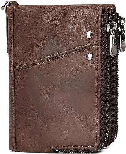 NV UOMO VERA VERA PELLE MORBIDA qualità wallet portamonete porta carte di credito portamonete