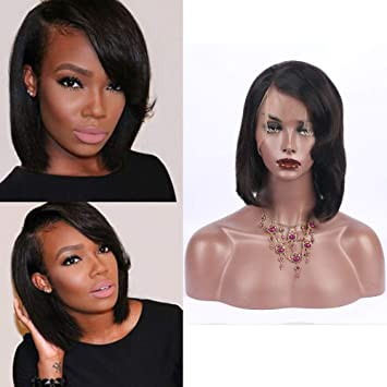 Amazon Com Short Straight Side Part Wigs With Side Fringe