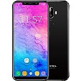 Oukitel U18 スマートフォン 5.85 '' 21:9 フルスクリーン 4Gスマートフォン 顔ID 指紋認証 アンドロイド7.1 MTK6750T デュアルバックカメラ ソニーIMX135 OTG対応 ブラック