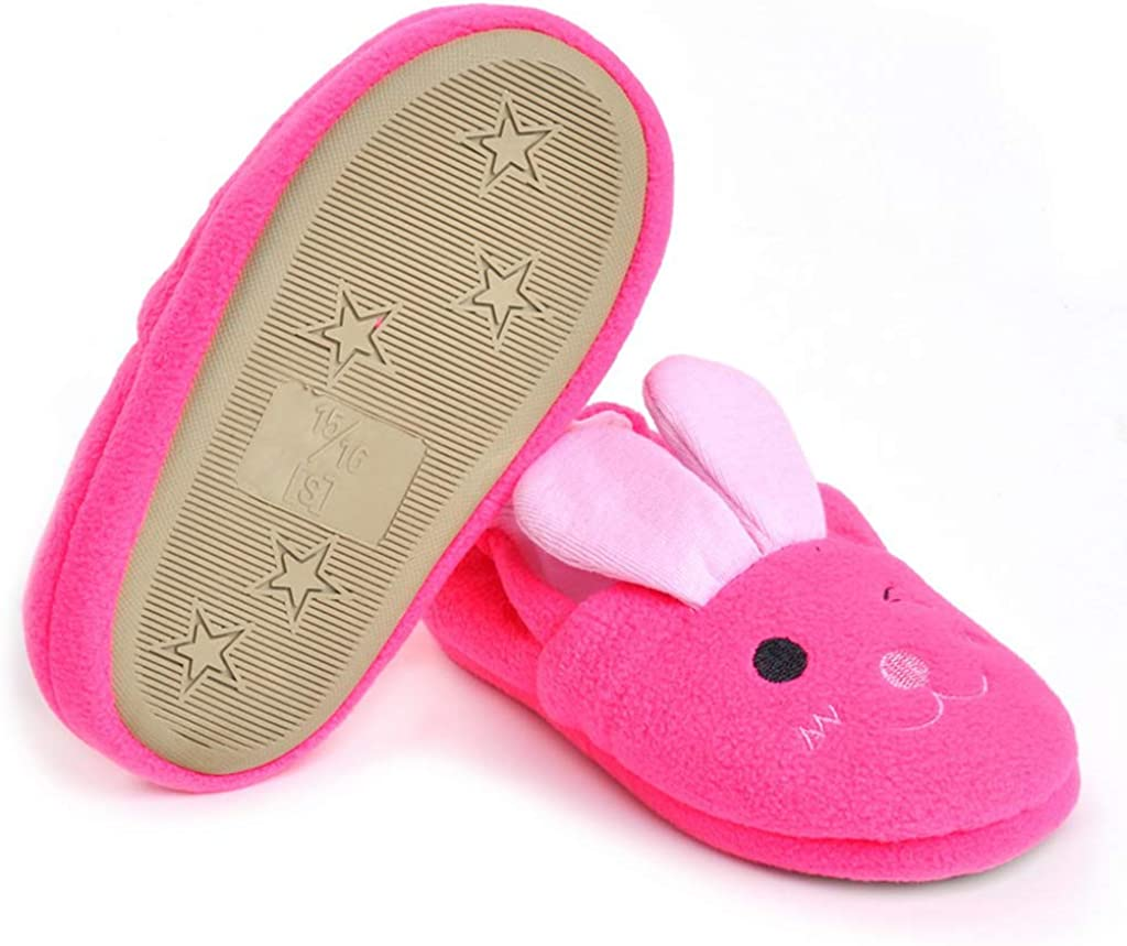 Csfry Baby Girls Premium Soft Plush Slippers Cartoon Warm Winter House Shoes