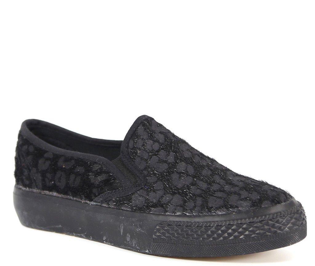 Bucco Pony Womens Fashion 100% Vegan Friendly Slip-On Sneakers B00OZTVRTK 9 B(M) US|Black