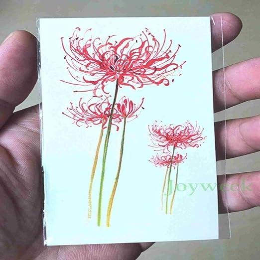 adgkitb 5piezas Impermeable Tatuaje Temporal Pegatina Flor de Loto ...