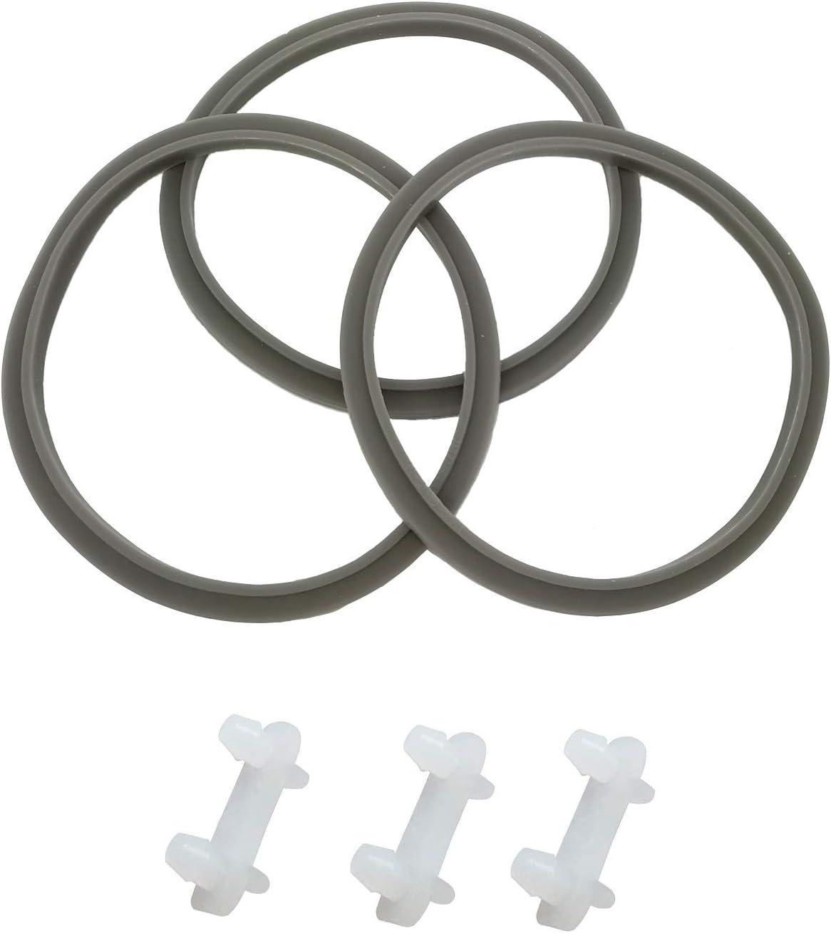 WAFJAMF 3PCS Seal Ring Gaskets with Lip, Replacement Gasket, for Nutribullet,3PCS Rubber Bushing Shock Pad for Nutribullet 600W 900W Blender NB-101B NB-101S NB-201