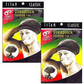 78488fdf41c Amazon.com   Titan Classic Black Dreadlock Stocking Cap - 2 Pieces   Beauty