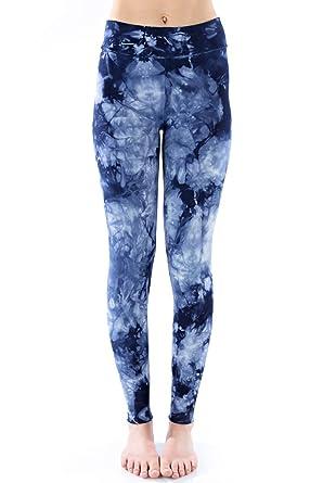 e38950bddf LVR Tie Dye Basic Legging-Blue Tie Dye-XS Womens Active Organic Yoga  Leggings