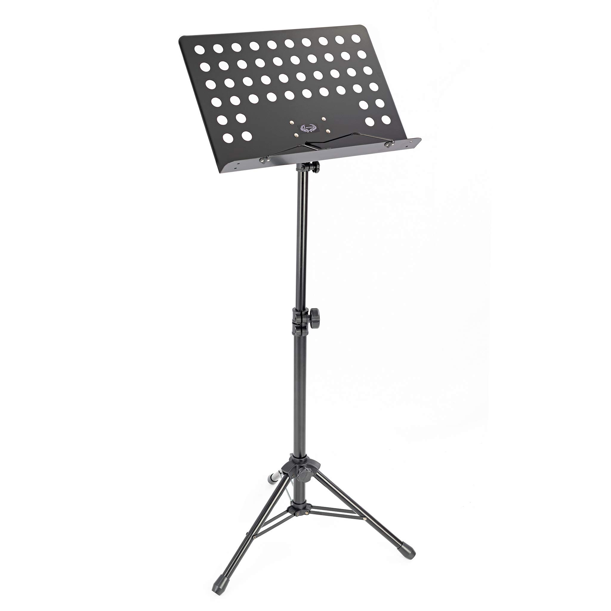 Pulse Orchestral Music Stand White Portable Orchestra//Conductors Sheet Stand