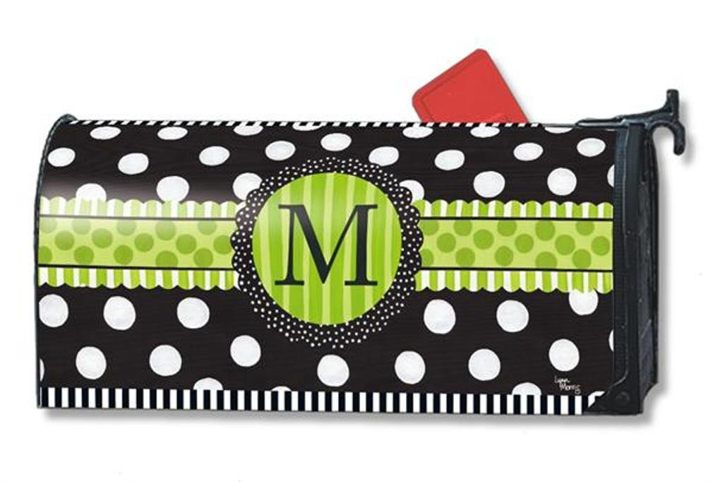 MailWraps Frolic Monogram M Mailbox Cover 01190M Magnetworks