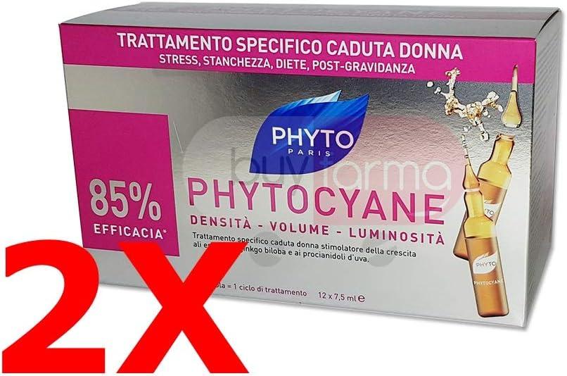 Duo Phytocyane Tratamiento Anticaída para la Mujer 12ampollas de 7,5ml