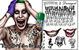 Instant Joker Costume Set (Temporary Tattoos and Green Hairspray) by Fancy Pants Store