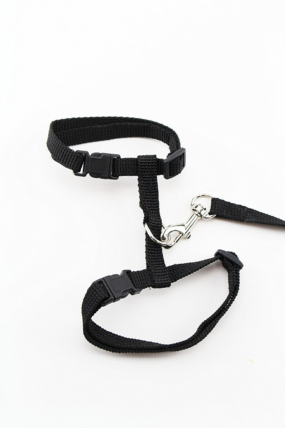 Black Midlee Adjustable Nylon Cat Harness & Leash by (Black)