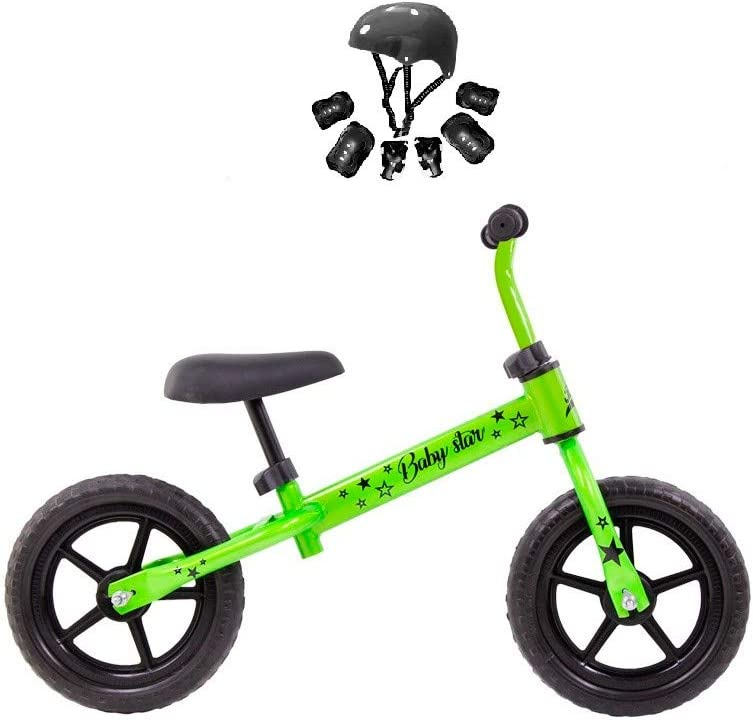Grupo K-2 Riscko - Bicicleta sin Pedales con sillín Y Manillar Regulables | Ultraligera | Correpasillos Minibike | Bicicleta para Niños de 2 a 5 años Baby Star
