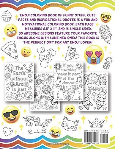 Amazon.com: Emoji Coloring Book of Funny Stuff, Cute Faces and ...