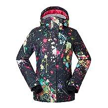 HOTIAN Women's Waterproof Snowboard Ski Jacket Windproof Snow Jacket Below Zero Coat