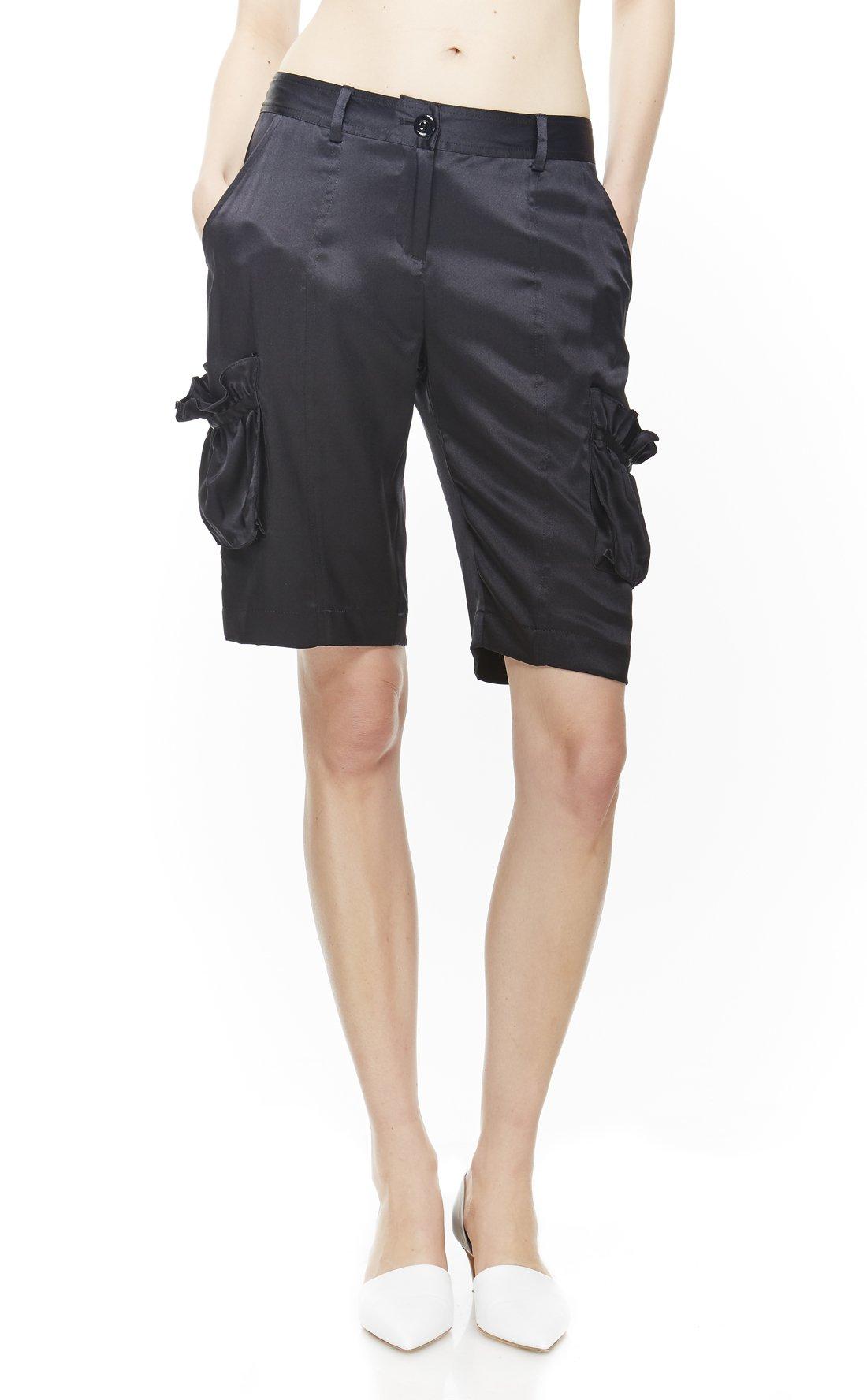 4 Corners of a Circle Women's Cargo Shorts 10 Black