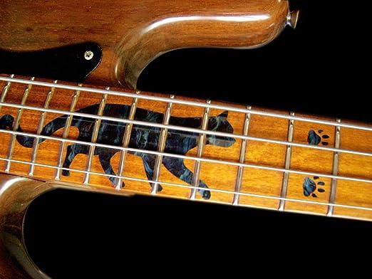 negro perla huellas de gato y patas Marcadores para trastes para guitarras Inlaystickers