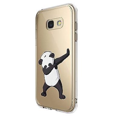 Funda Compatible con Samsung Galaxy A5 A3 2017 Funda Silicona Cover Ultra Slim Carcasa TPU Bumper Protectora Caso de Plástico Duro Cover Case para ...
