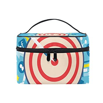 2b1aed4c4b Amazon.com   MaMacool Target Cosmetic Bags for women Travel Makeup Toiletry  Organizer Case   Beauty