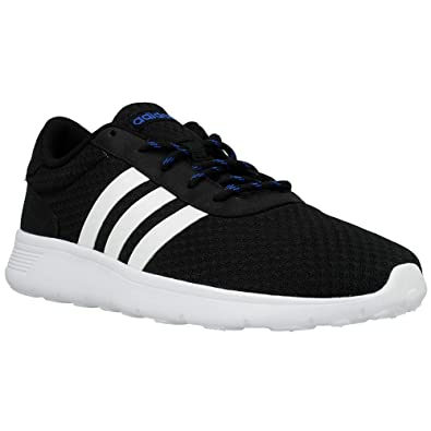 new styles 3aefa 05a55 adidas neo Men s Lite Racer Core Black, Ftwr White and Blue Mesh Sneakers -  9 UK  Buy Online at Low Prices in India - Amazon.in