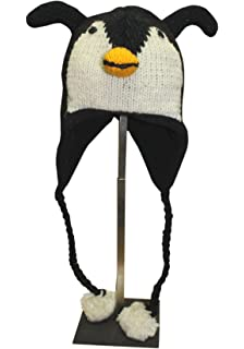 100/% Wool Nepalese Hand Knitted Animal Hat Regular Size