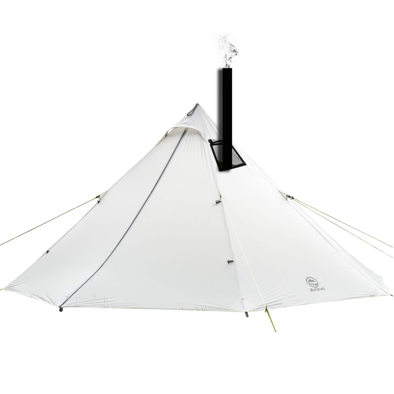 4人用20 Dシリコーンコーティングナイロン一極テント軽量ピラミッドキャンプテント