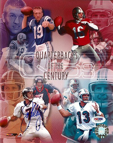 John Elway Signed 8x10 Photo Denver Broncos QB's of the Century - PSA/DNA Authentication - Autographed NFL Football Photos - John Elway Autographed Football
