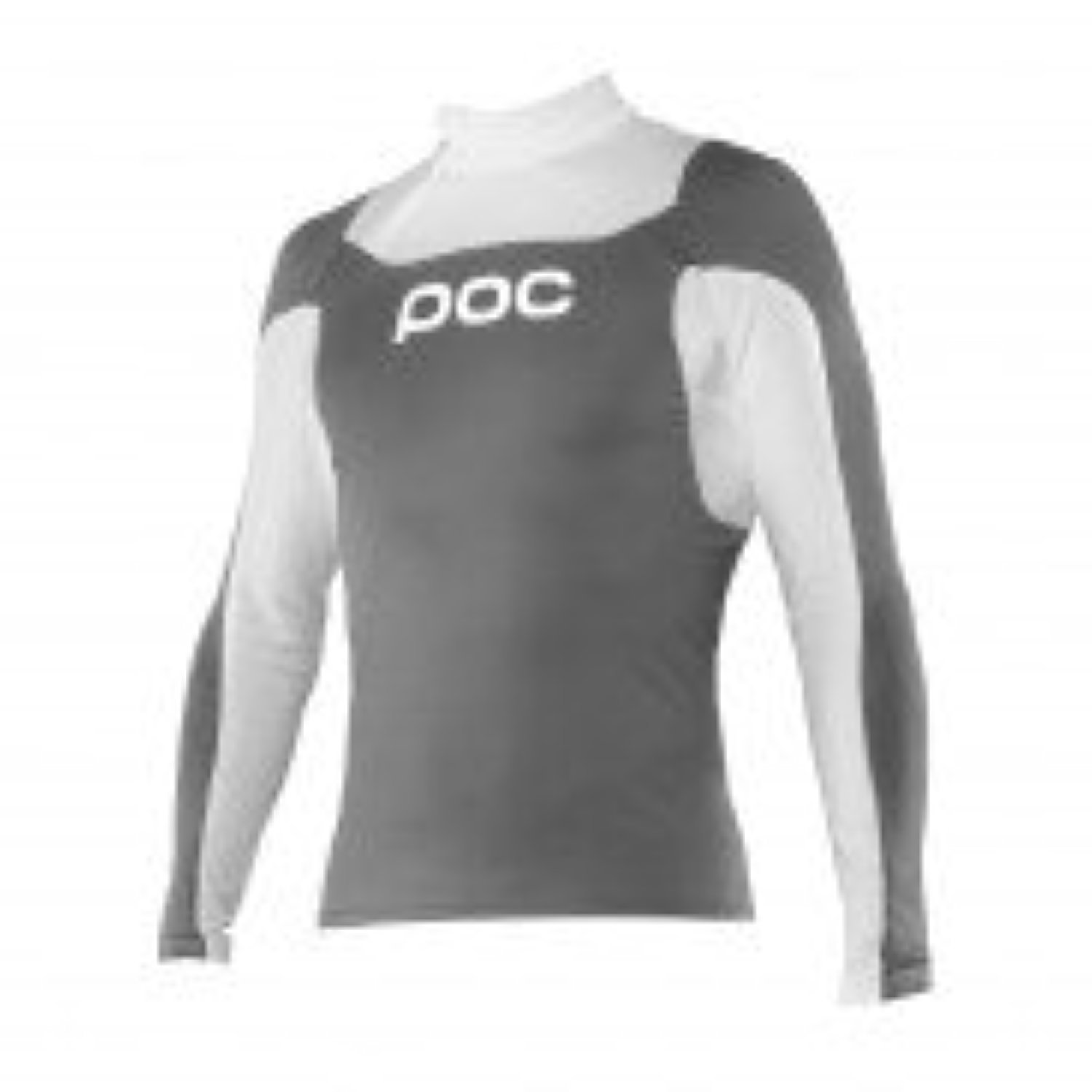poc poc Layer Jr Cut Suit Top Steel Grey/Hydrogen White 12Y & Headband Bundle by POC