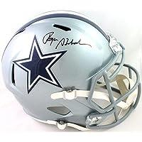 $295 » Roger Staubach Autographed Dallas Cowboys Full Size Speed Helmet - Beckett W Auth Black