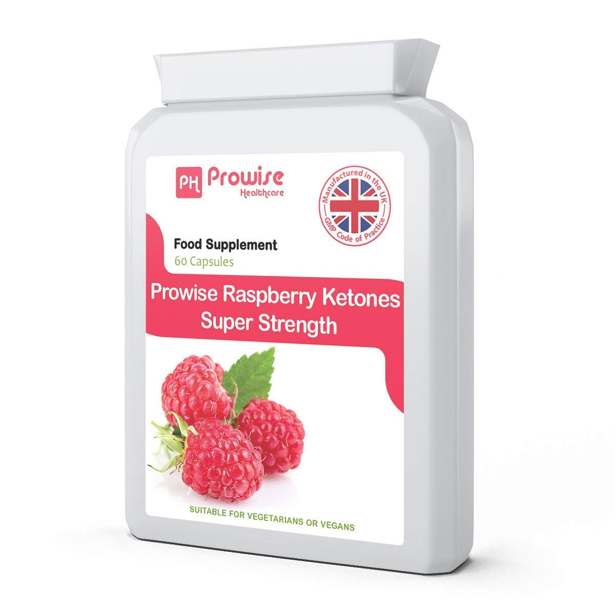 Prowise Raspberry Ketones Super Strength 600mg -60 Capsules (Pack of 1)
