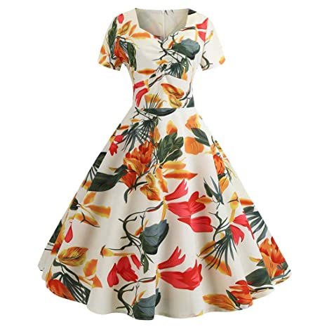 Tulips Floral Retro 1950s Vintage rockabilly Circle Swing Skirt 16 14 12 10 8