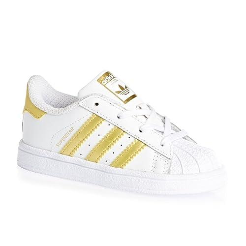 half off 24717 fb029 adidas Superstar I, Sneaker Unisex-Bimbi, Bianco (Ftwbla Dormet), 20