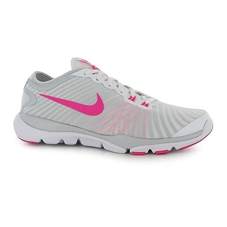 Nike Flex Supreme 4 Zapatillas de Entrenamiento para Mujer Blanco/Rosa Fitness Zapatillas Zapatillas,
