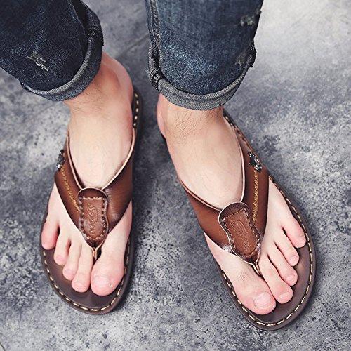 sandali Uomini Il nuovo estate Uomini scarpa Antiscivolo indossabile Doppio uso Spiaggia scarpa Uomini infradito sandali tendenza ,Marrone A,US=7,UK=6.5,EU=40,CN=40
