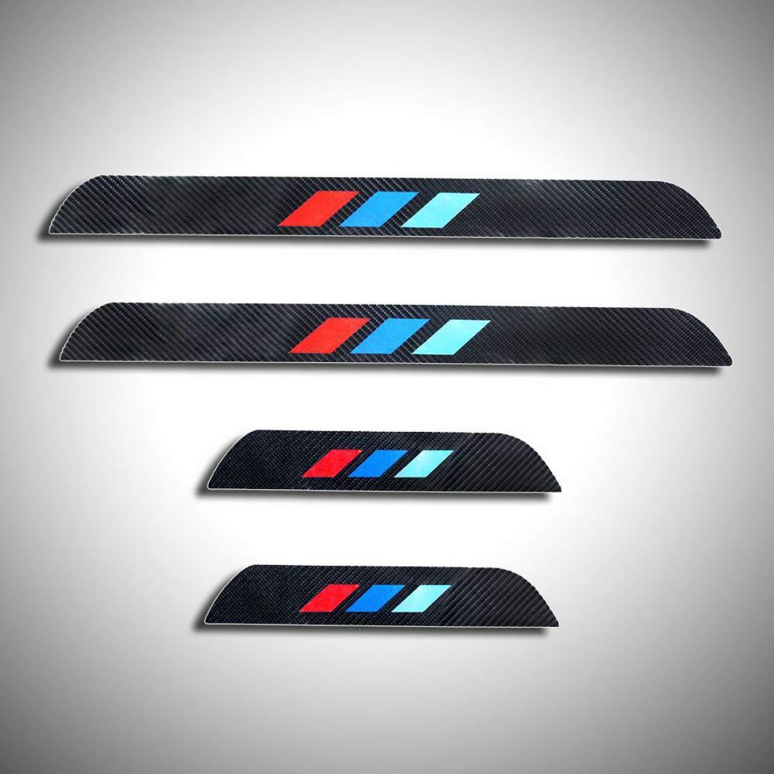 For E46 E92 E93 316 318 320 325 328 330 323 318i 320i 325i 328i 330i 335i 320d 325d Car Door Sill Scuff Plate Guard Sills Protector Trim Carbon Fiber Stickers 4pcs