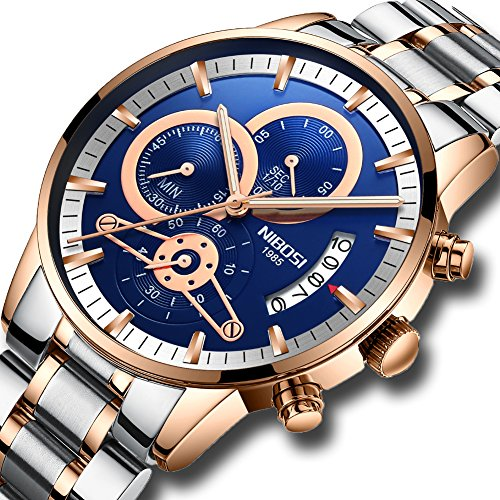 Men's Quartz Watches Luxury Brand Business Watch Stainless Steel Sport Waterproof Wristwatch Male Clock