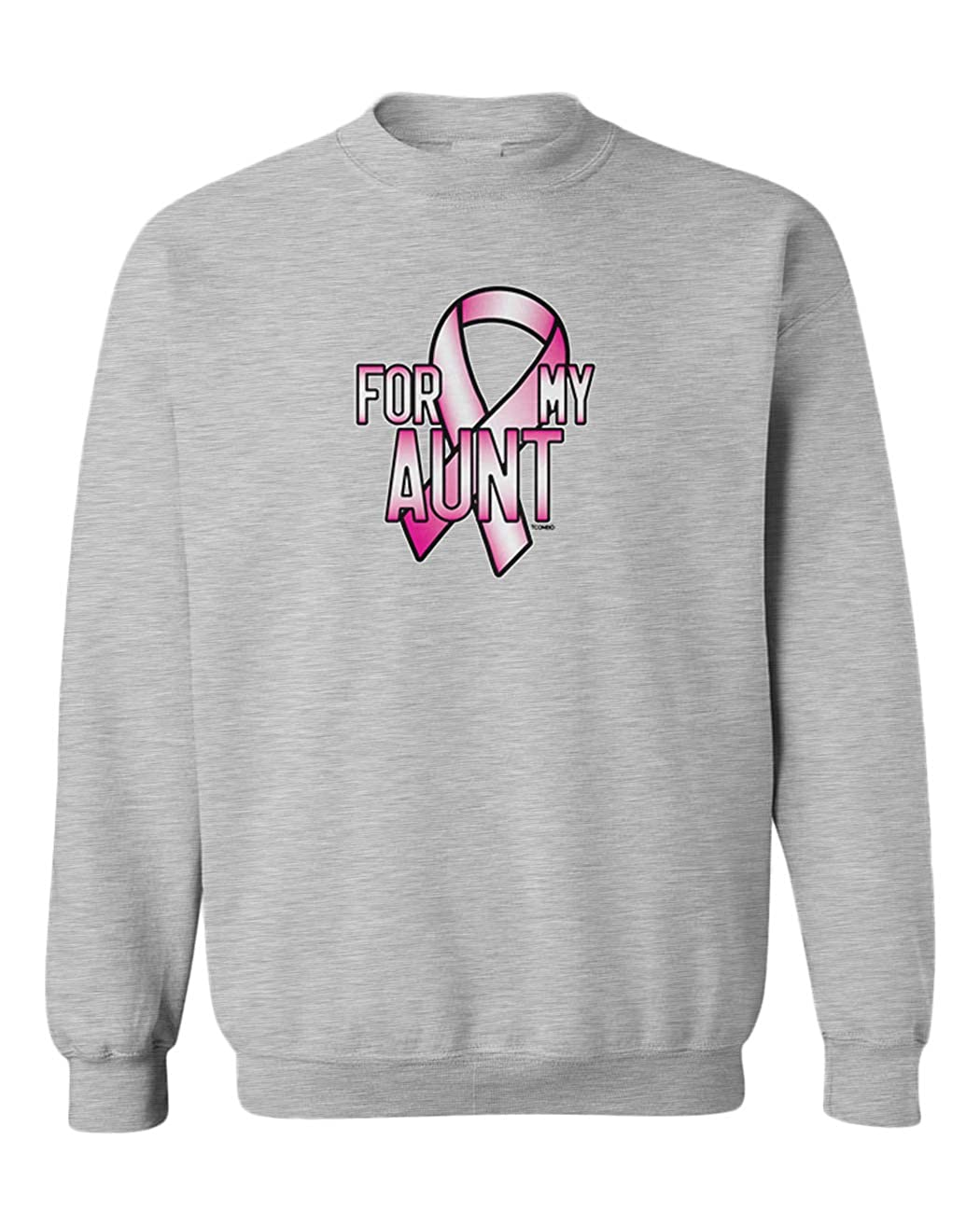 Breast Cancer Ribbon Youth Fleece Crewneck Sweater Tcombo for My Aunt